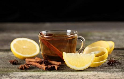 Фотообои чай с лимоном и корицей