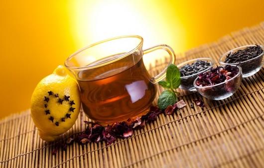 Фотообои чашка чая с лимоном