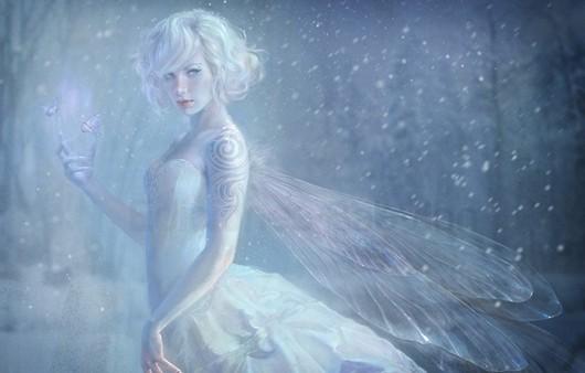 фея в снегу