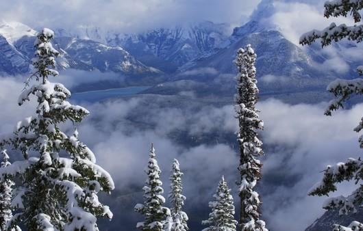 Озеро Минневанка в Канаде