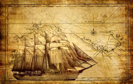 парусник на карте
