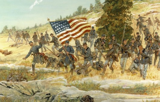 американцы с флагом