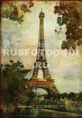 Фотообои Фреска Эйфелева башня