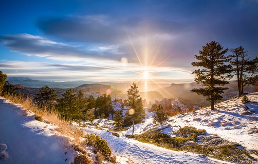 рассвет зимой
