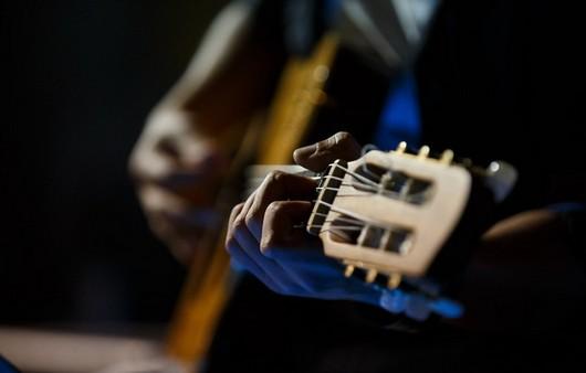 Фотообои парень с гитарой