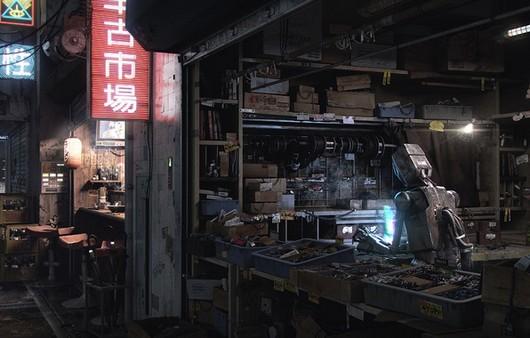 робот в мастерской