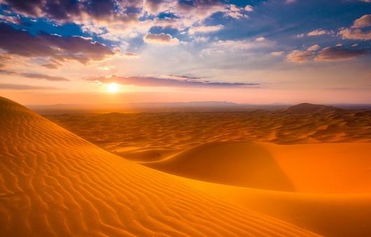 закат в пустыне Сахара