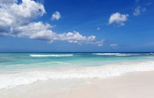волны на тропическом побережье