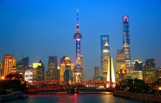 мост через реку в Шанхае