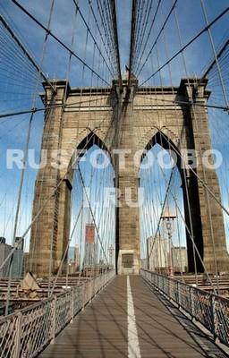 Зона для пешеходов Бруклинский мост