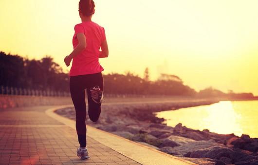 бег по набережной