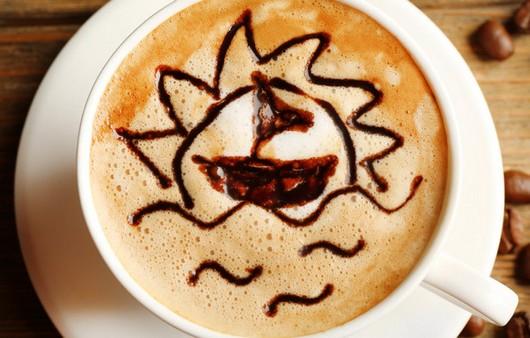 рисунок в кофе