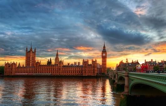 Фотообои закат в Лондоне