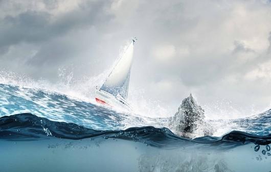 Фотообои парусник в море