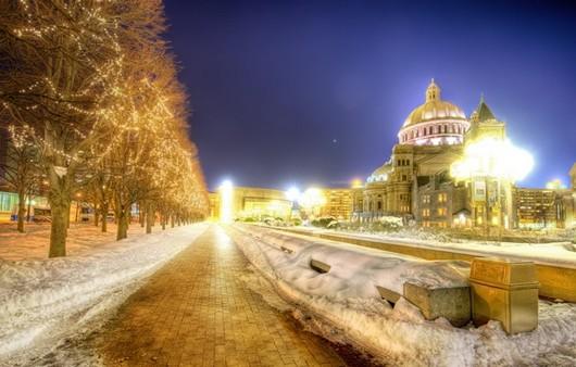 Фотообои ночной бостон