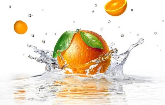 брызги апельсина