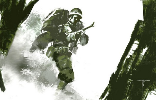 Фотообои нарисованный солдат