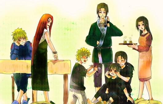 семья аниме картинки
