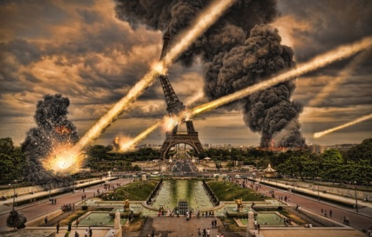 Фотообои конец Парижа