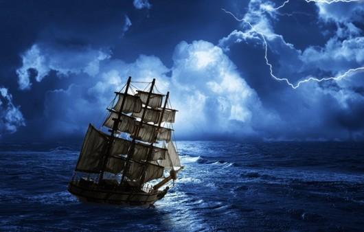корабль в пути