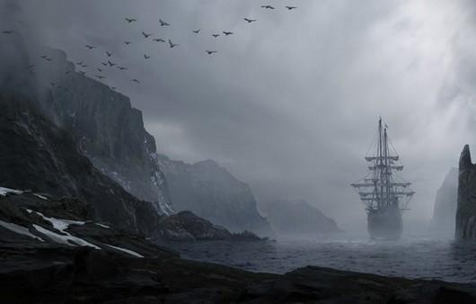 Фотообои корабль в тумане