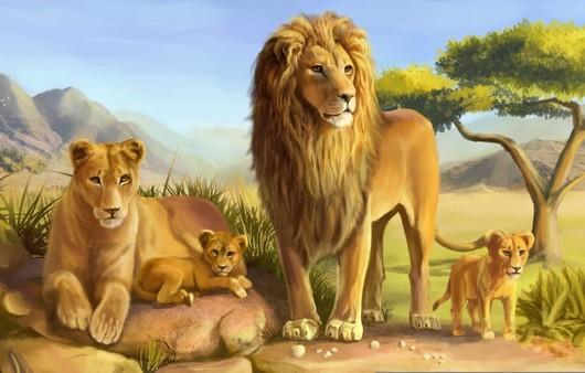 Фотообои львиная семья