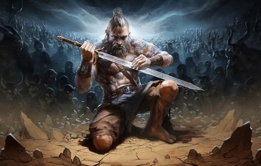 Воин с мечом в руках