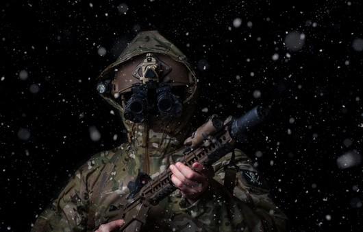 Солдат в камуфляже