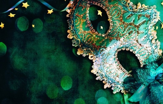 Зеленая праздничная маска