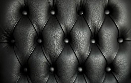 Текстура черный кожаный диван
