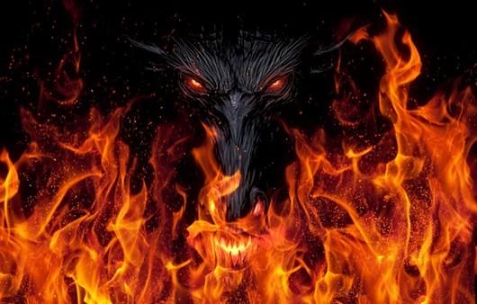 Глаза дракона в огне