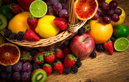 Фотообои Натюрморт с фруктами и ягодами