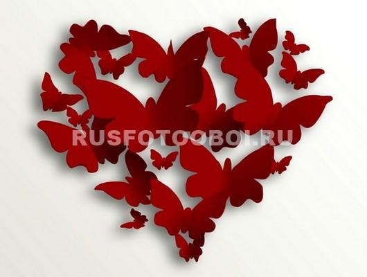 Бабочки в виде сердца