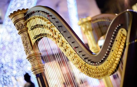 Фотообои Музыкальный инструмент арфа
