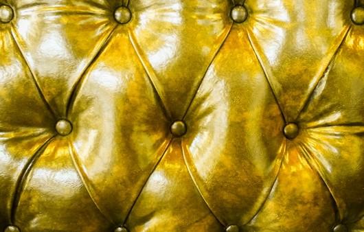 Фотообои Текстура кожаного желтого дивана