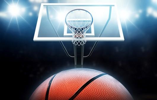 Фотообои Баскетбольный мяч летит в сетку