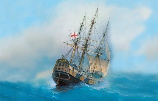 Фотообои Парусный корабль в море