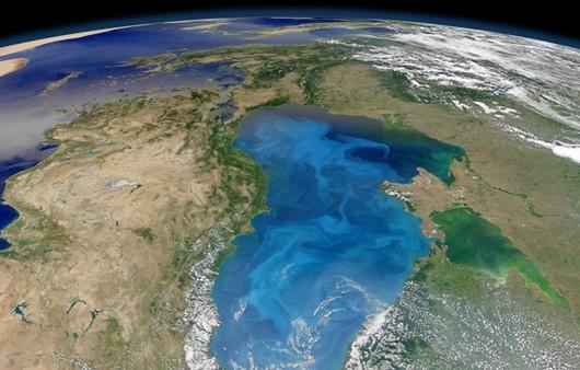 Фотообои Черное море со спутника