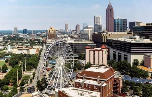 Колесо обозрения в Атланте