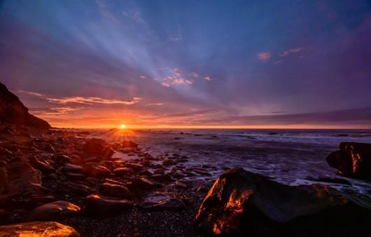 Фотообои Закат на западном побережье