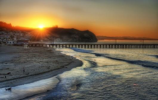 Пляж в Лос Анжелесе