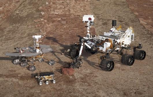 Марсоход на поверхности Марса