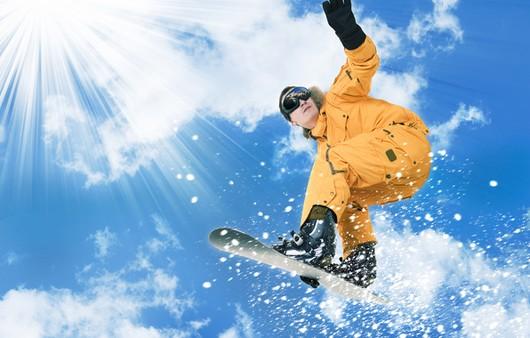 Фотообои Мужчина сноубордист