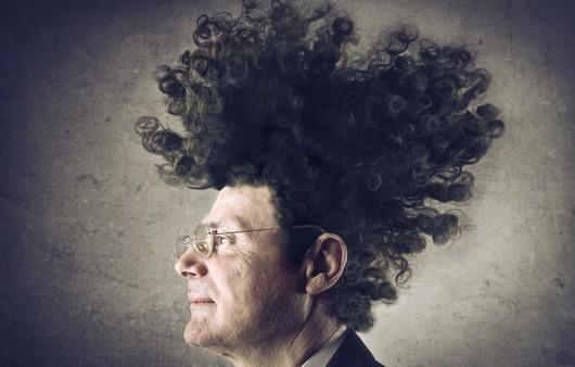 Фотообои Мужчина в очках с необычной прической