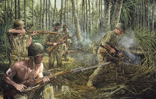 Фотообои Солдаты в джунглях