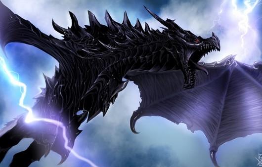 Дракон из игры The Elder Scrolls V
