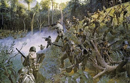 Солдаты на филиппинских островах