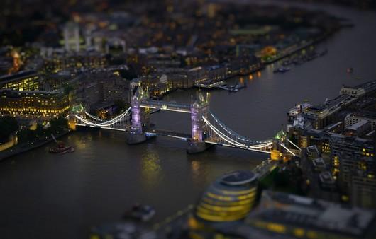 Фотообои Лондонский мост в тилтшифт