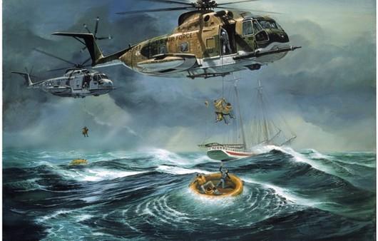 Спасение людей в море