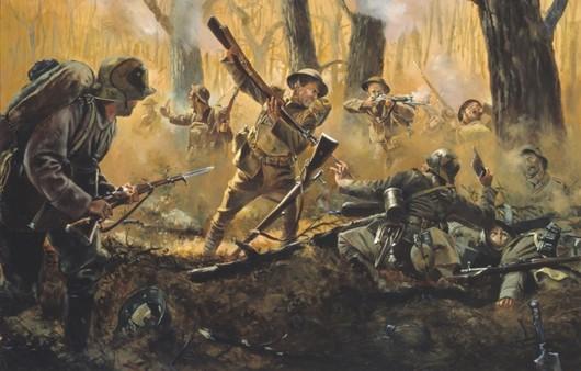 Французские солдаты в лесу